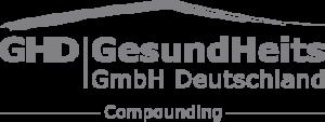 GHD Compounding Logo in grau